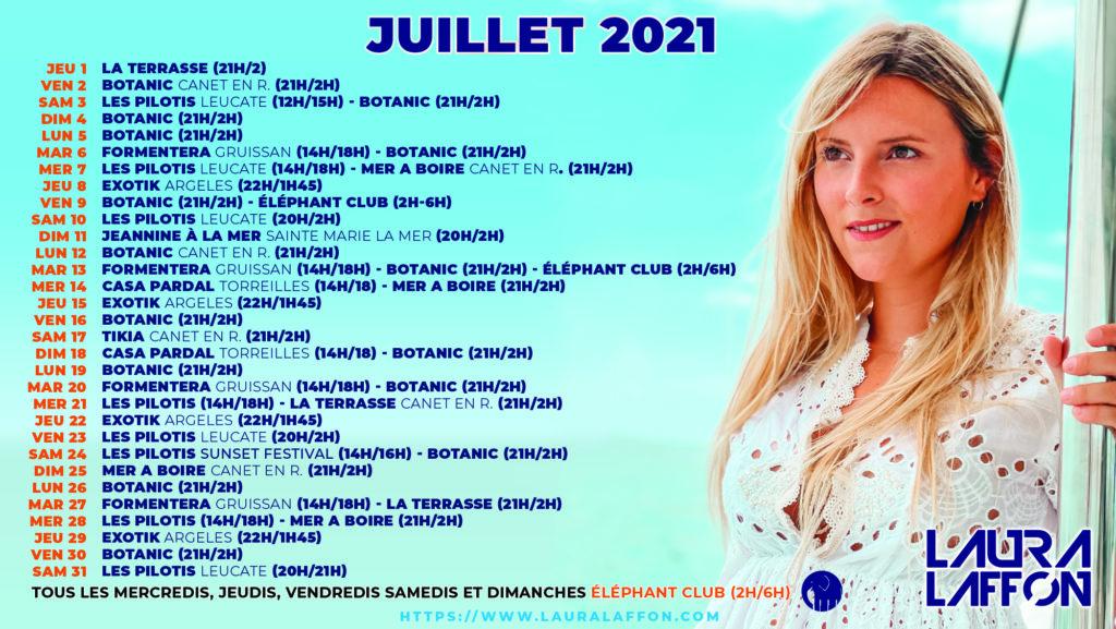 JULLLET 2021 DJ LAURA LAFFON